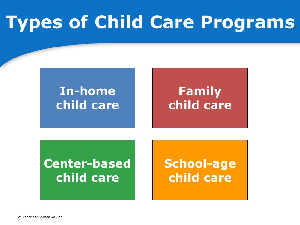 Types of Child Care Programs