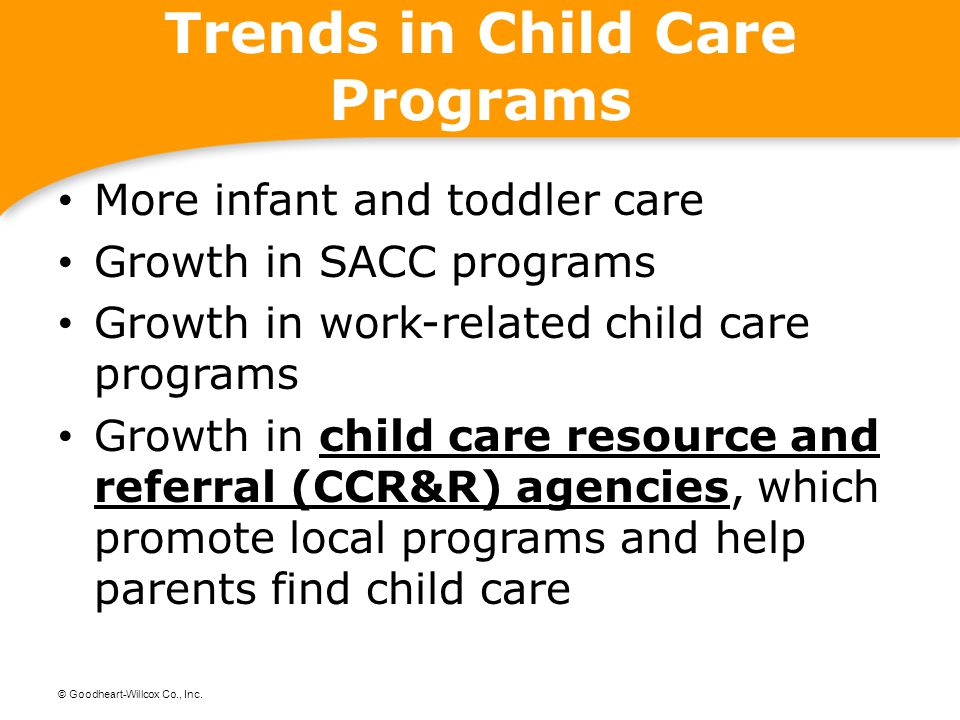 Trends in Child Care Programs