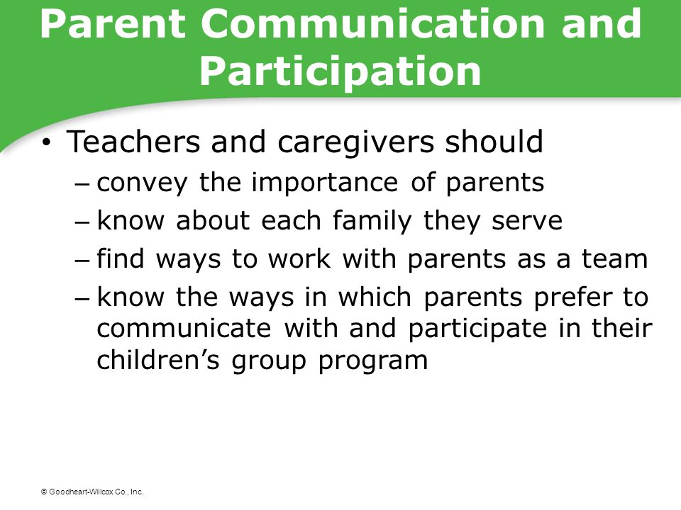 Parent Communication and Participation