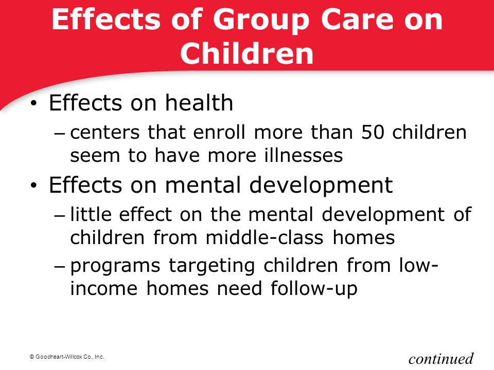 Effects of Group Care on Children