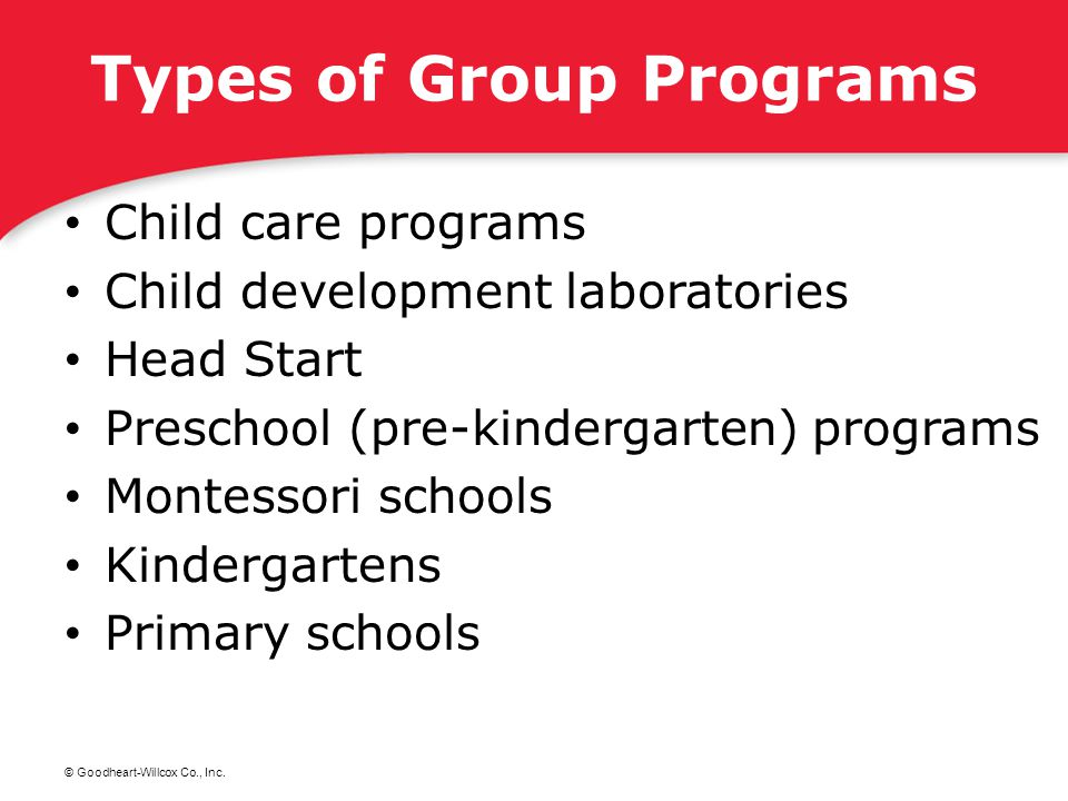 Types of Group Programs
