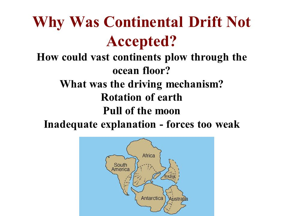 Why Was Continental Drift Not Accepted