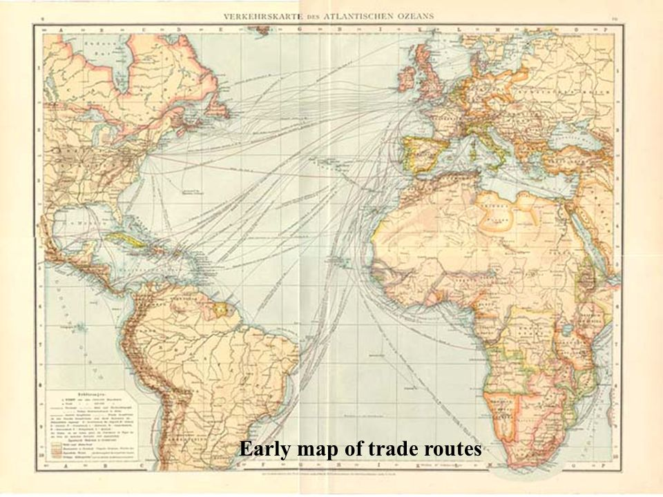 Early map of trade routes