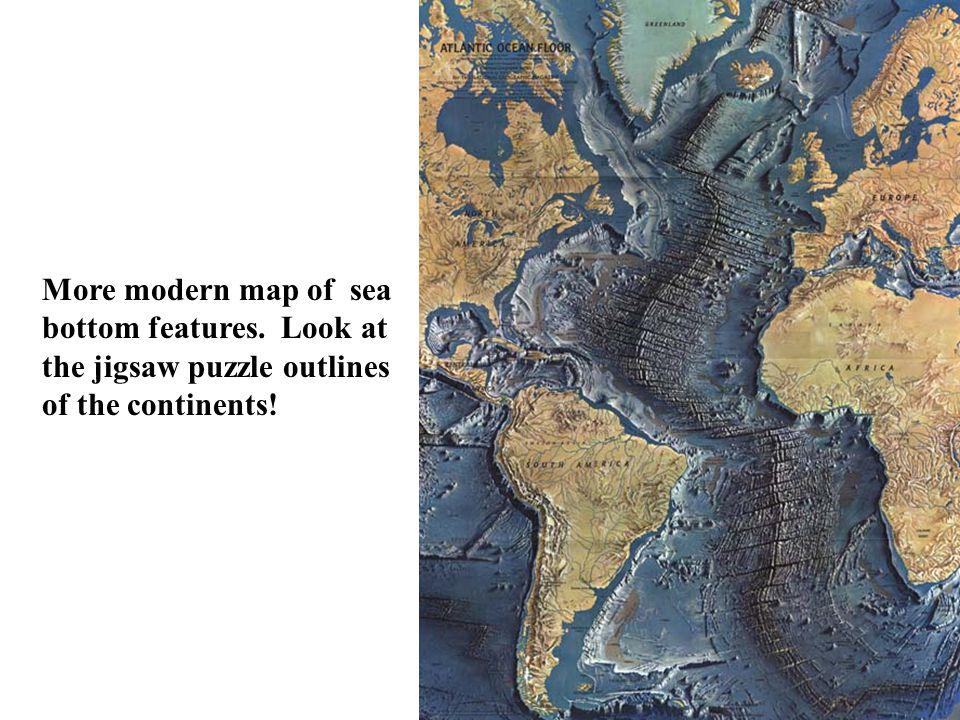 More modern map of sea bottom features