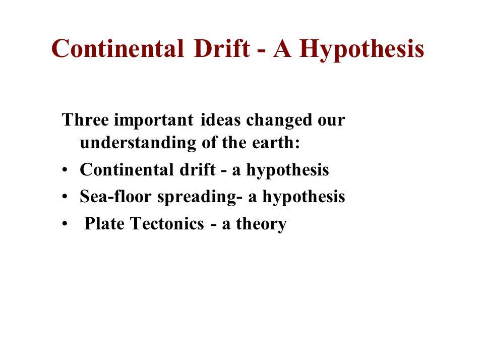 Continental Drift - A Hypothesis