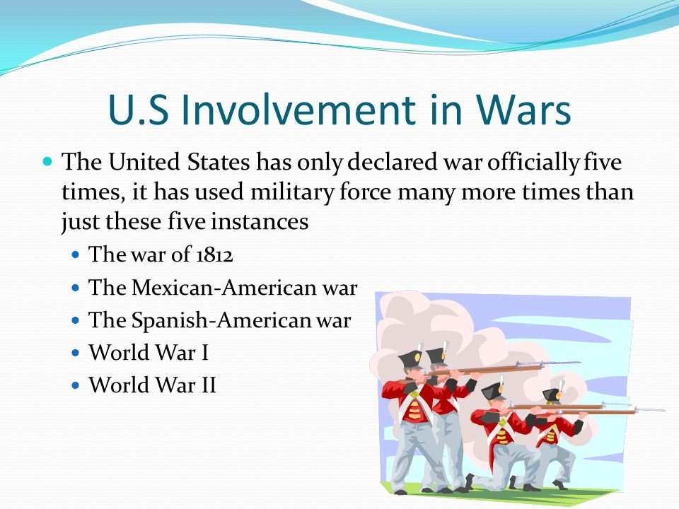 U.S Involvement in Wars