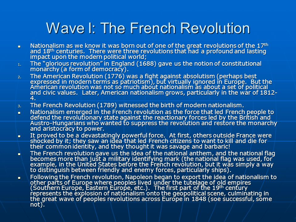 Wave I: The French Revolution