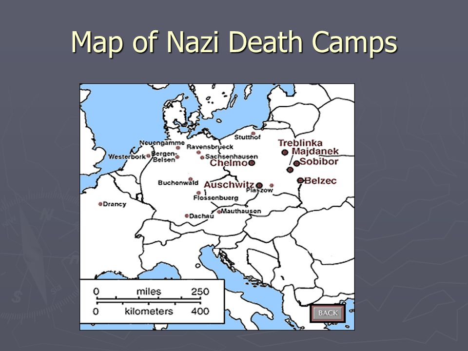 Map of Nazi Death Camps