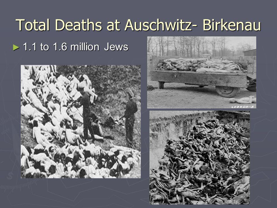 Total Deaths at Auschwitz- Birkenau