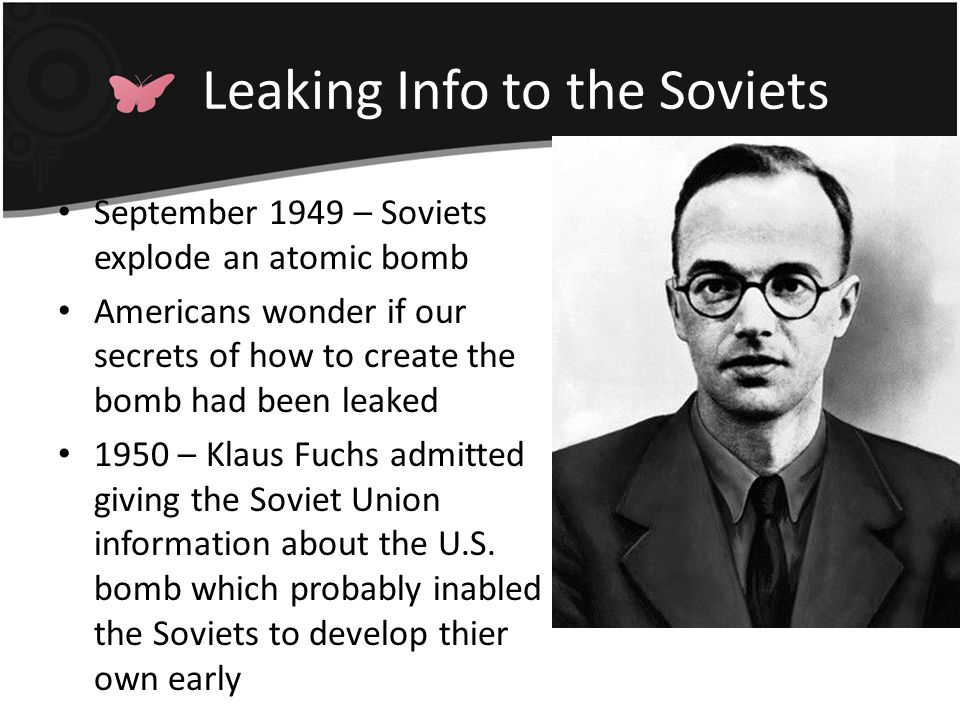 Leaking Info to the Soviets