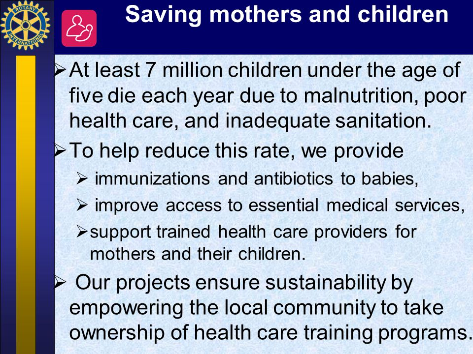 Saving mothers and children