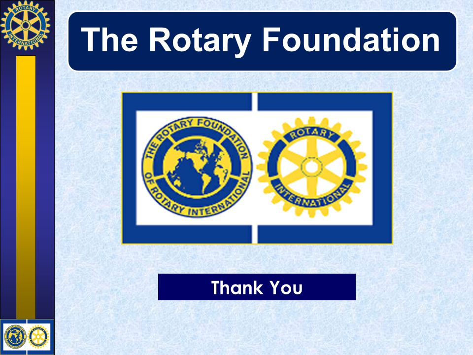 The Rotary Foundation Thank You