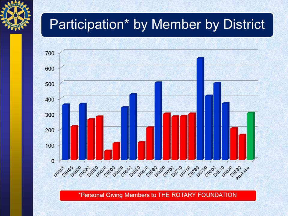 Participation* by Member by District