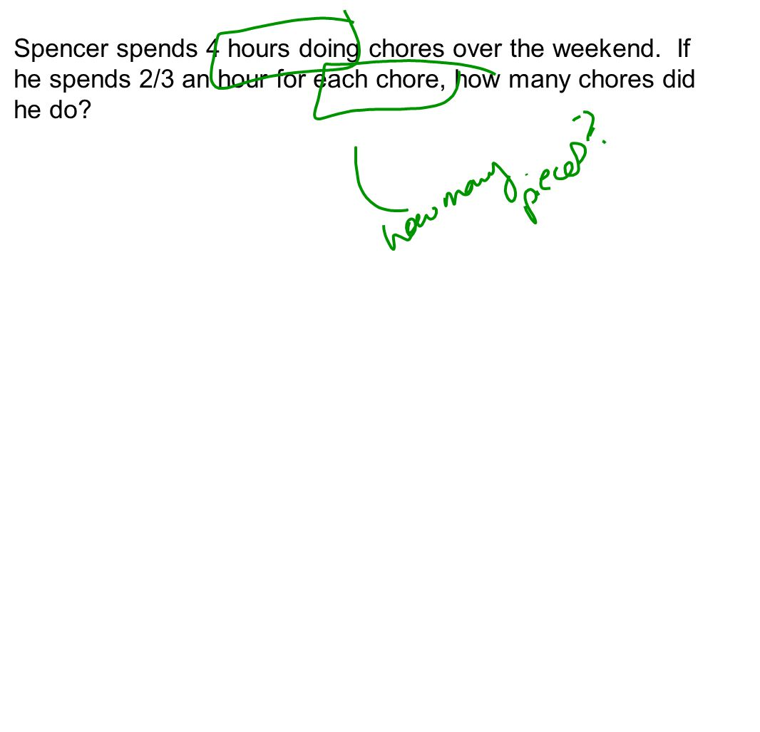 Spencer spends 4 hours doing chores over the weekend