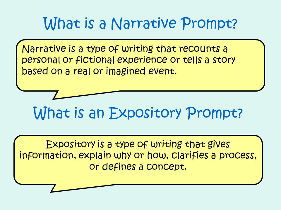 What is an Expository Prompt