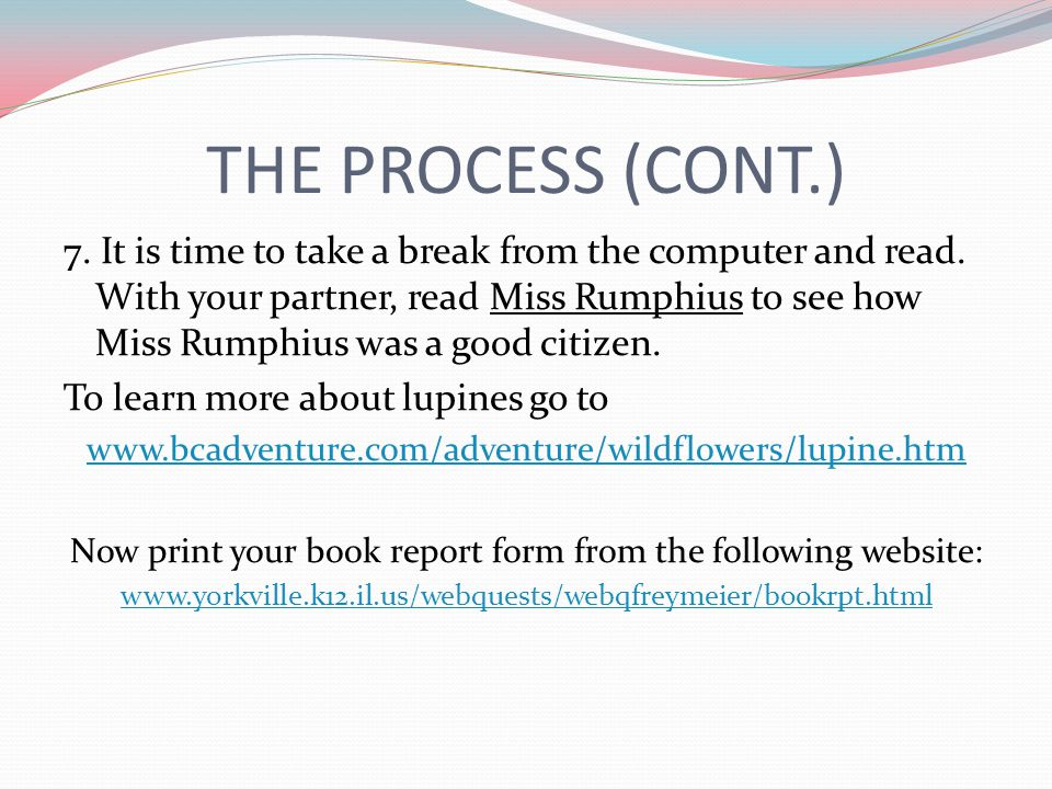 Now print your book report form from the following website: