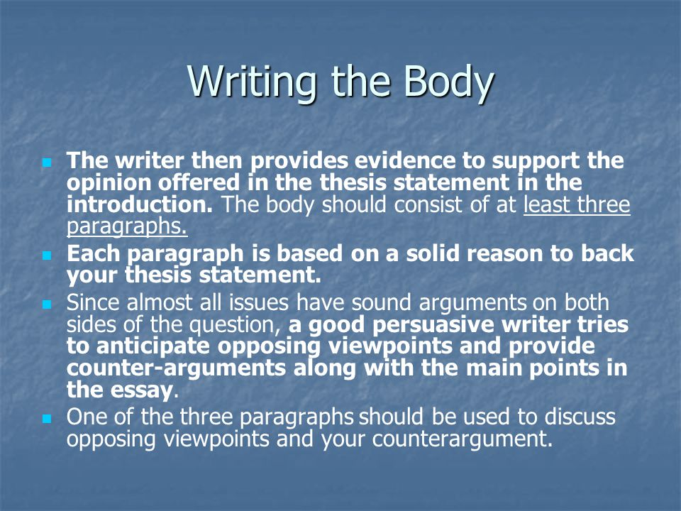 Writing the Body