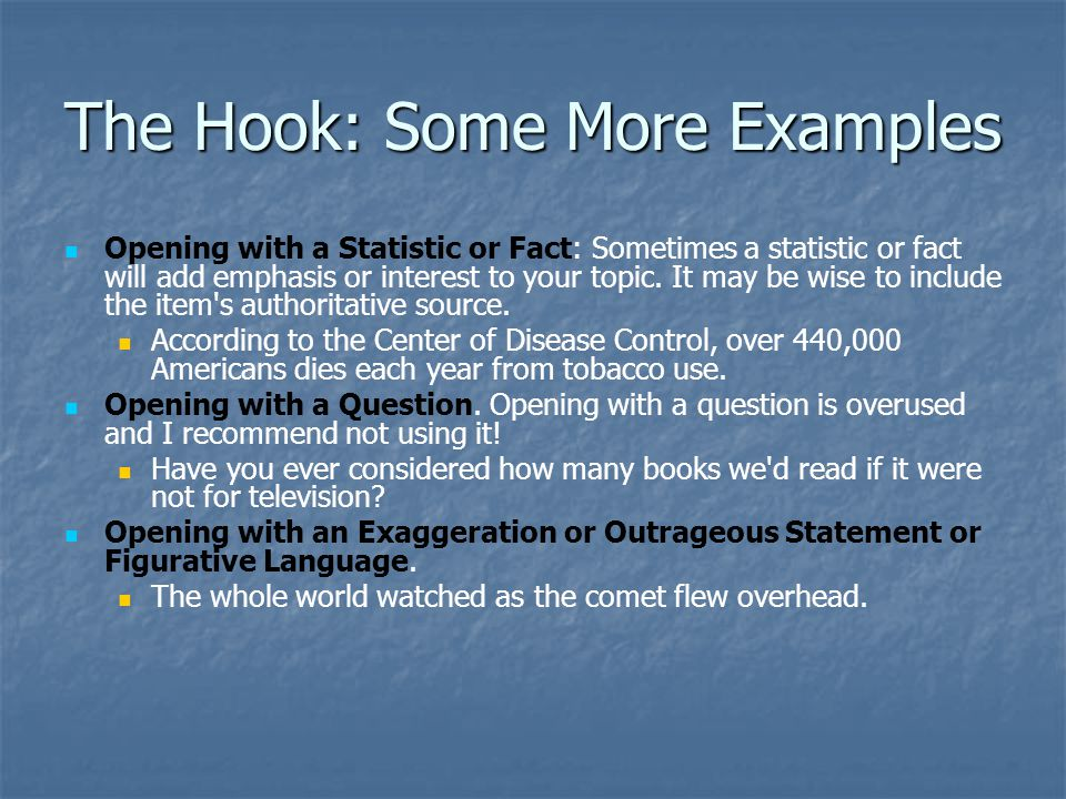 The Hook: Some More Examples