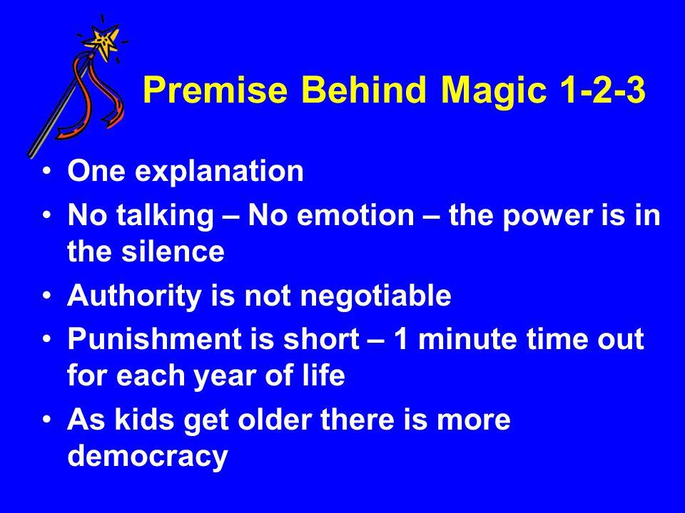 Premise Behind Magic 1-2-3