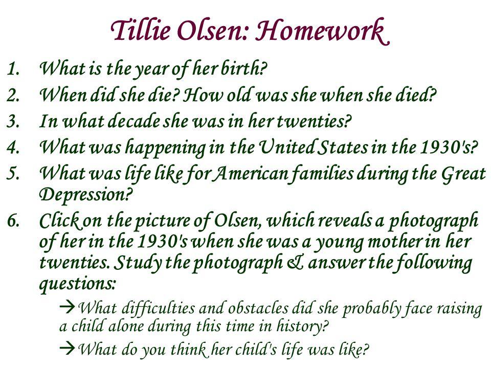 Tillie Olsen: Homework