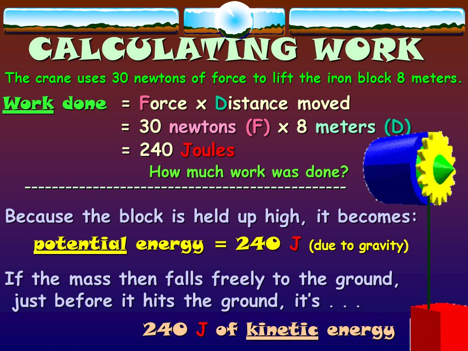 CALCULATING WORK -----------------------------------------------