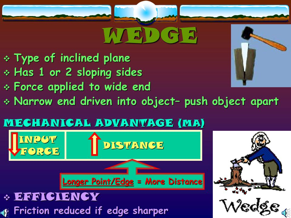 Longer Point/Edge = More Distance