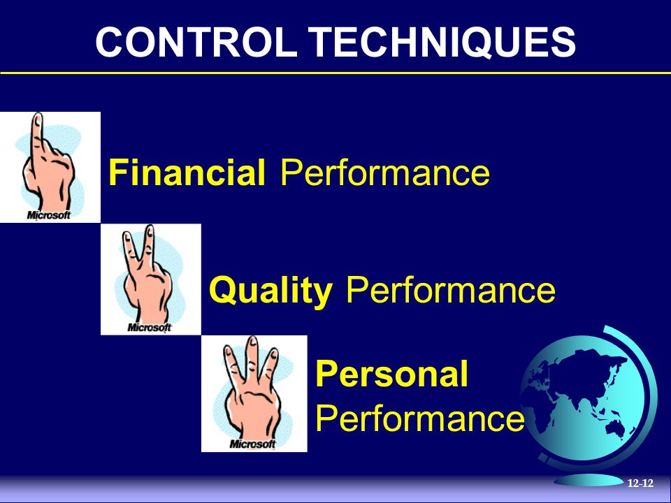 CONTROL TECHNIQUES Financial Performance Quality Performance