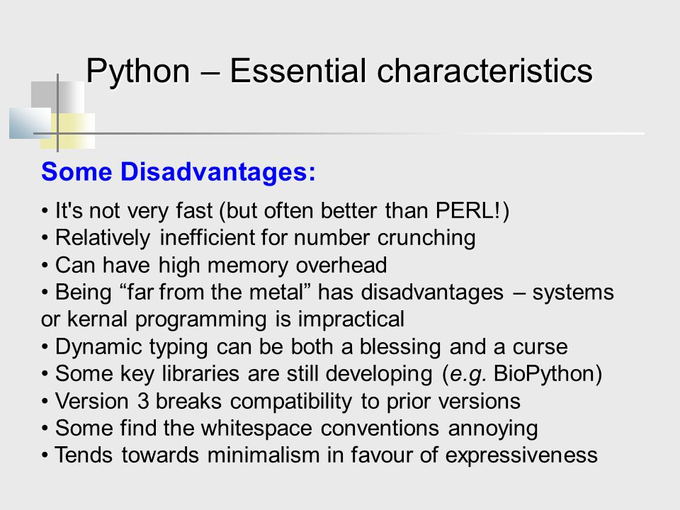 Python – Essential characteristics
