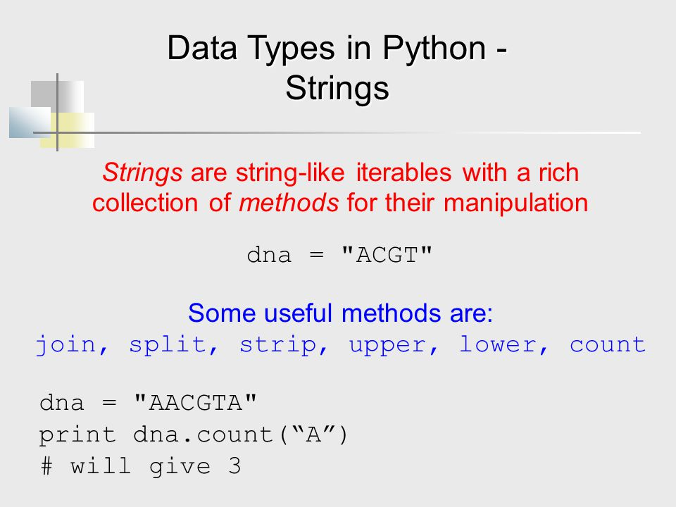 Data Types in Python - Strings
