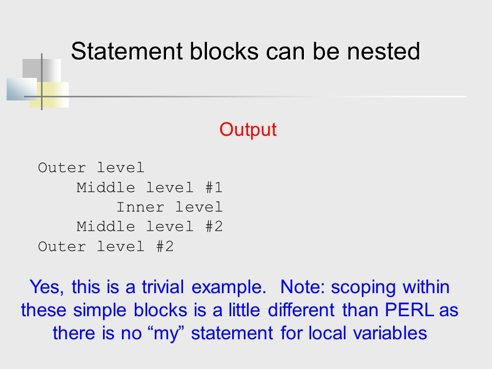 Statement blocks can be nested