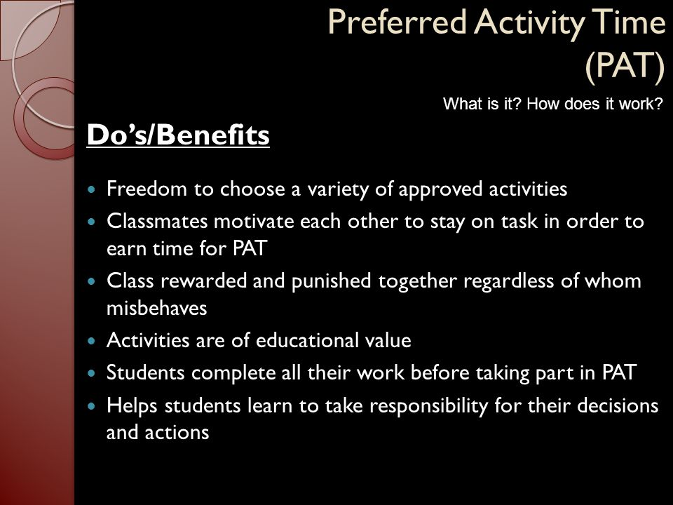 Preferred Activity Time (PAT)