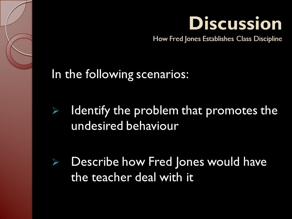 Discussion How Fred Jones Establishes Class Discipline