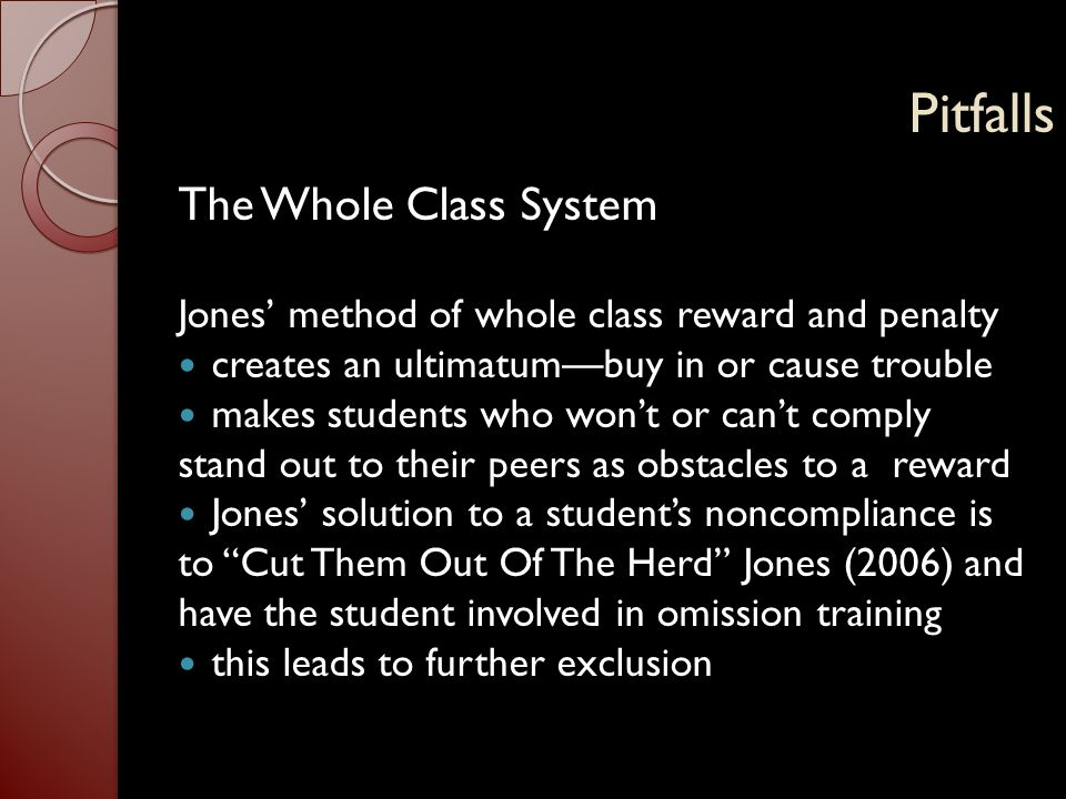 Pitfalls The Whole Class System