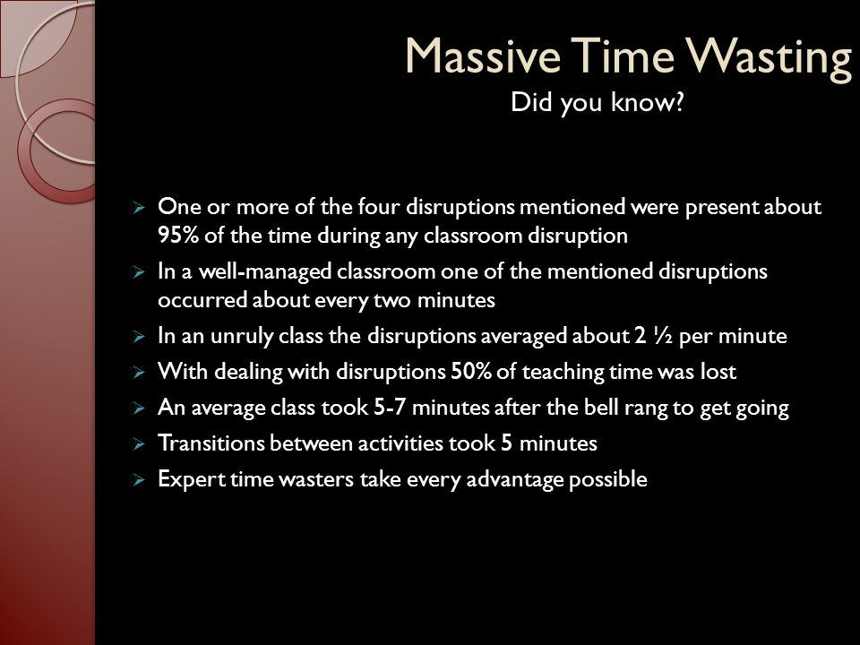 Massive Time Wasting Did you know