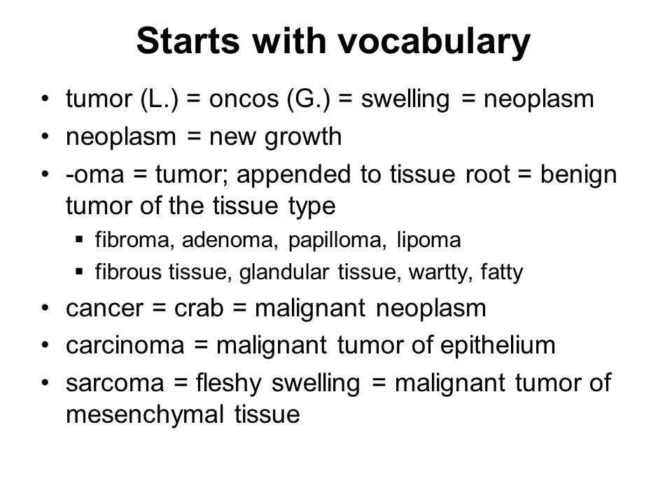 Starts with vocabulary