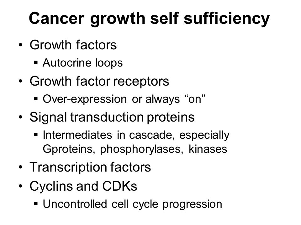 Cancer growth self sufficiency