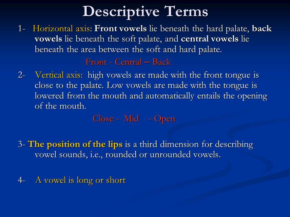 Descriptive Terms