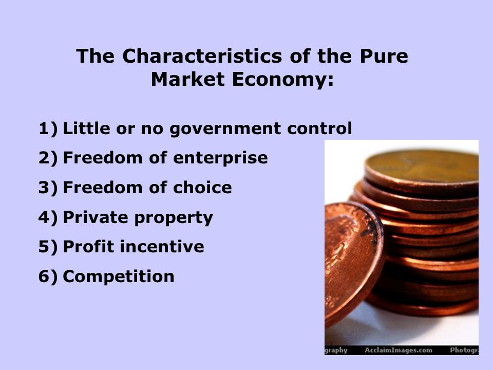 The Characteristics of the Pure Market Economy: