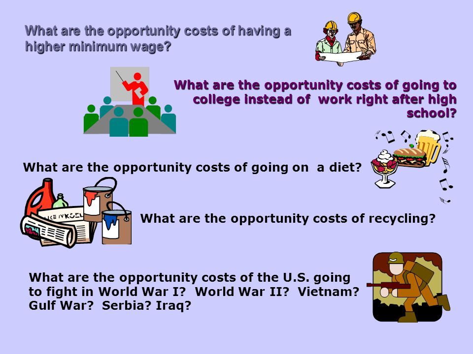 What are the opportunity costs of recycling
