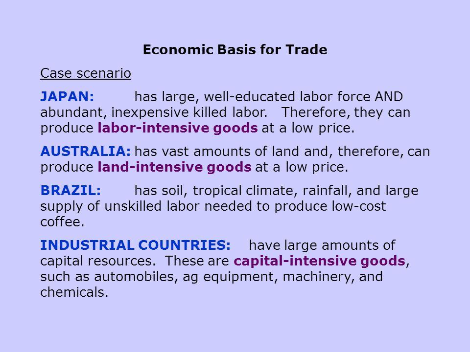 Economic Basis for Trade