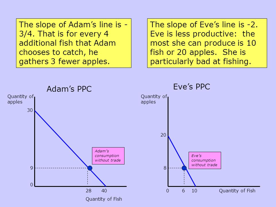 The slope of Adam's line is -3/4