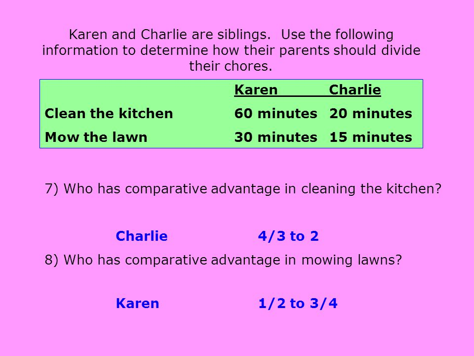 Karen and Charlie are siblings