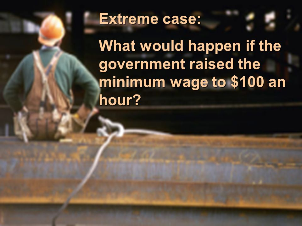Extreme case: What would happen if the government raised the minimum wage to $100 an hour