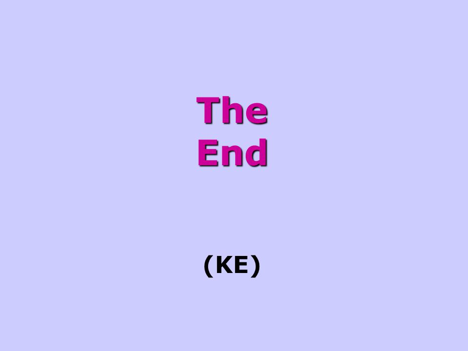 The End (KE)