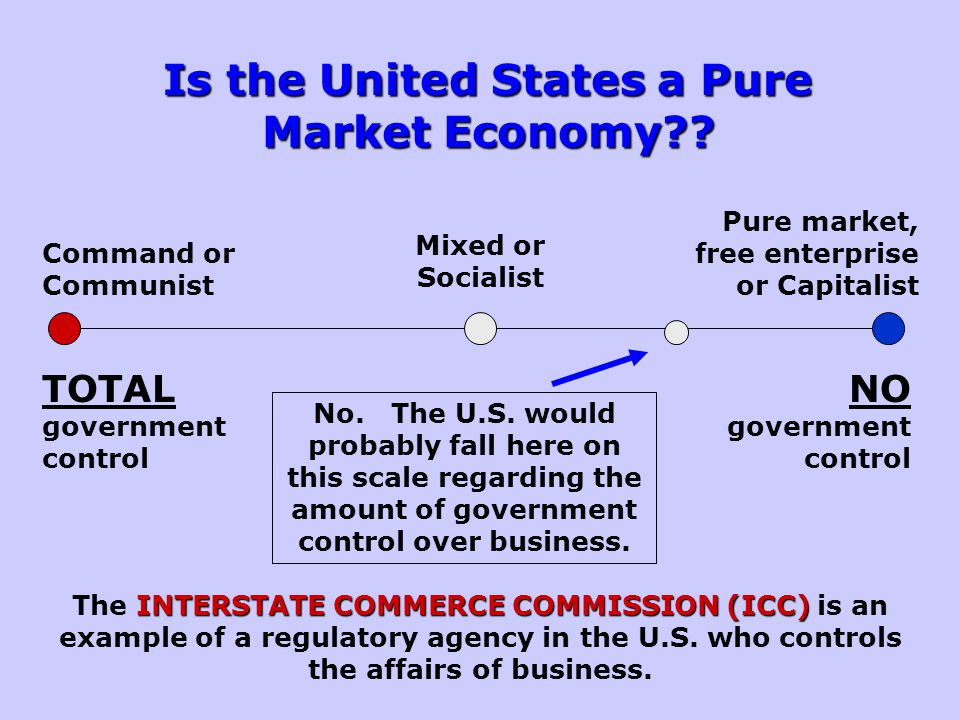 Is the United States a Pure Market Economy