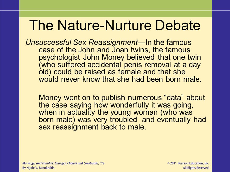 The Nature-Nurture Debate