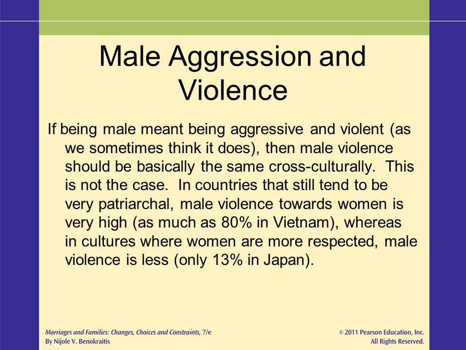 Male Aggression and Violence
