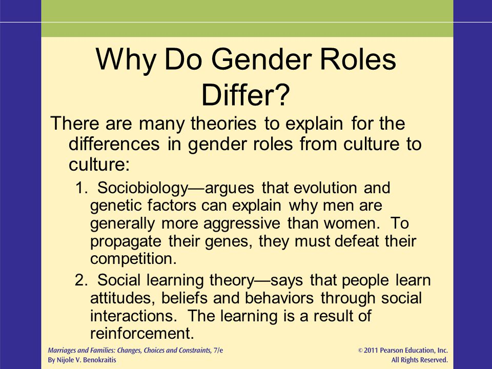 Why Do Gender Roles Differ