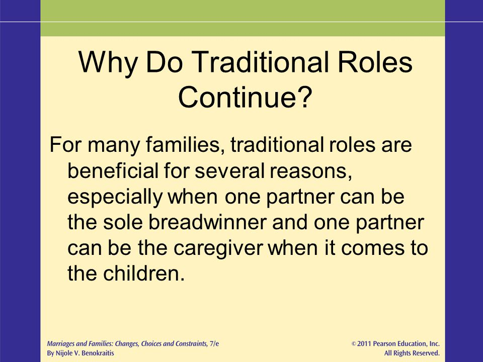 Why Do Traditional Roles Continue