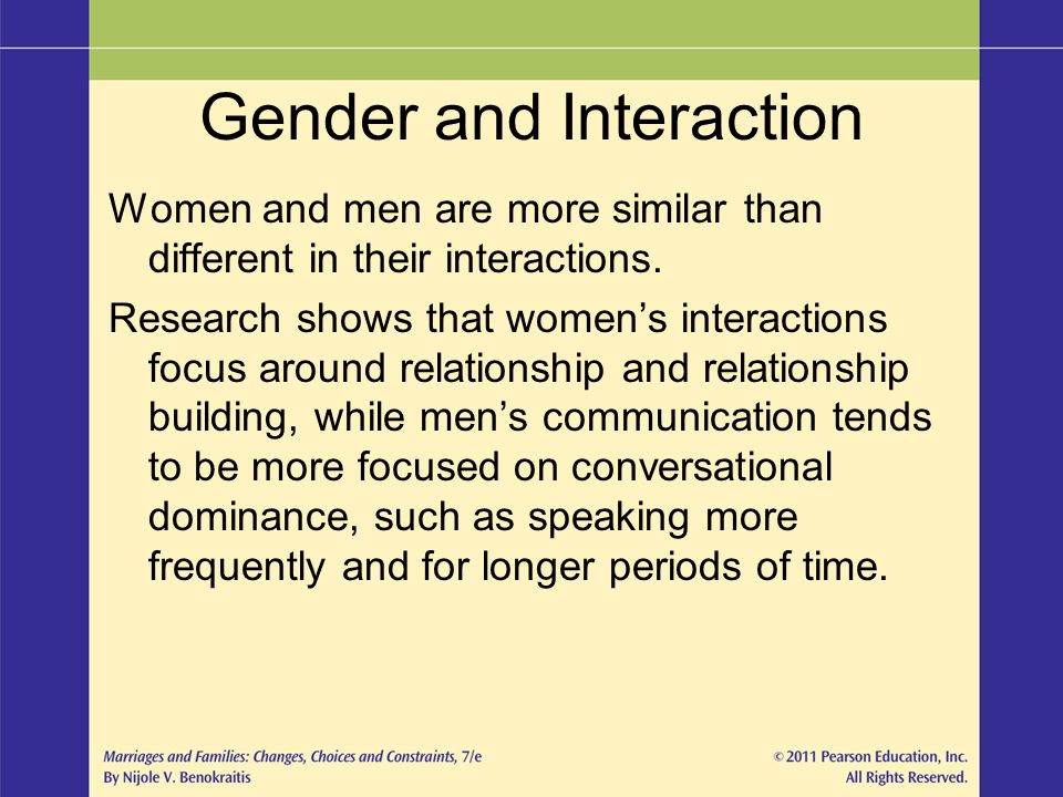 Gender and Interaction